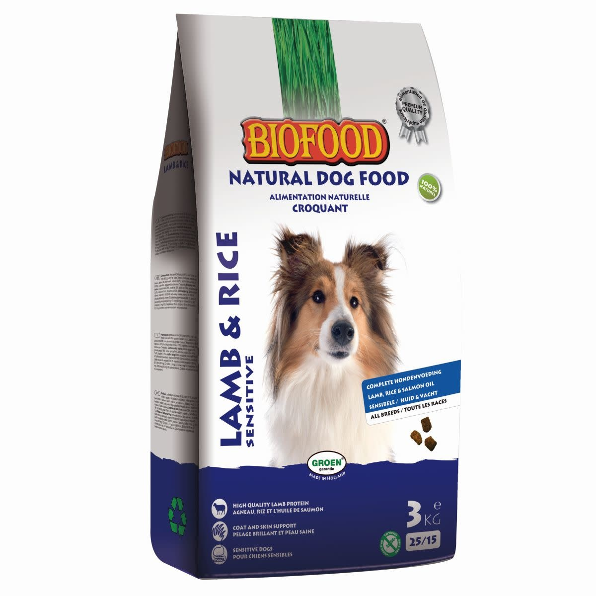 BioFood Biofood lam&rijst sensitive 3kg