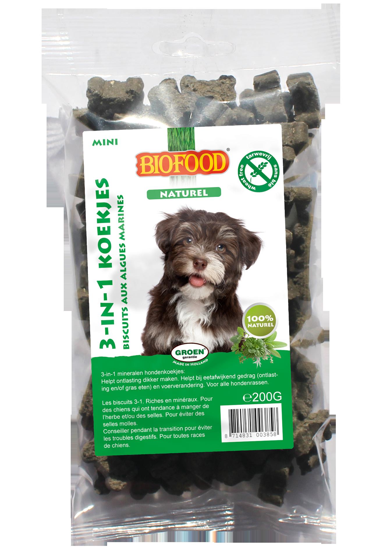 BioFood BIOFOOD - 3 IN 1 KOEKJE KRUIDEN 200 gr