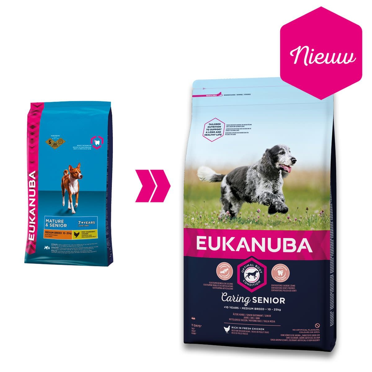 eukanuba c.medium senior medium breed