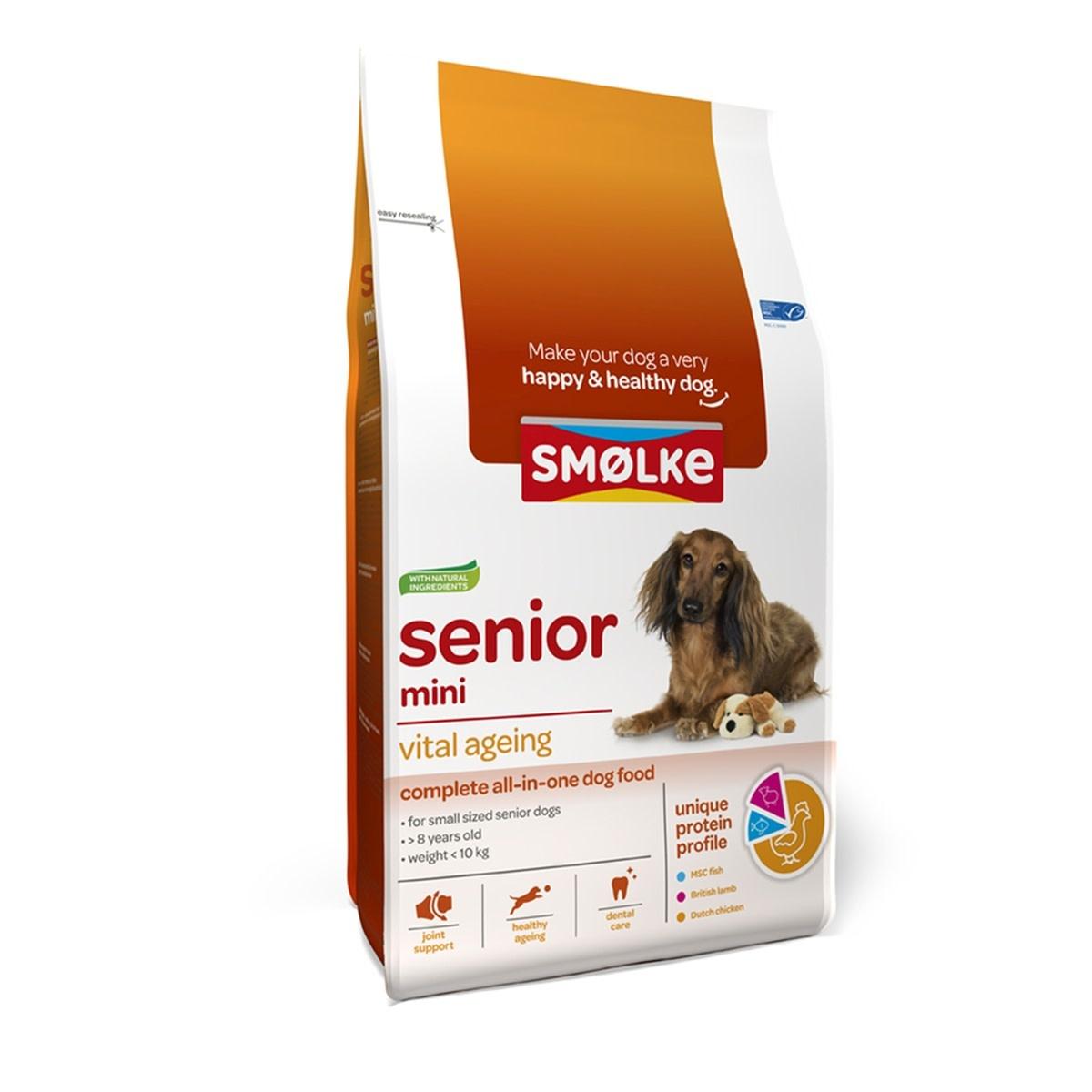 Smølke SMOLKE - SENIOR MINI 3 KG KIP SENIOR