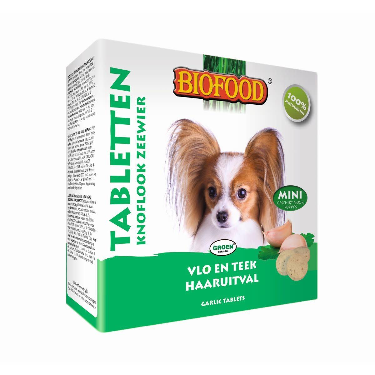 BioFood BIOFOOD - ANTI-VLO TABLETTEN MINI WIT/GROEN 100 ST - 60 GR ZEEWIER