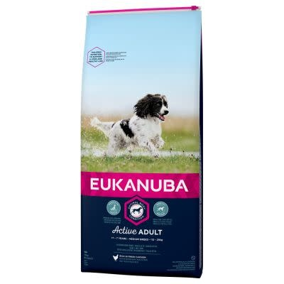 Eukanuba EUKANUBA - ADULT MEDIUM BREED 12 KG KIP