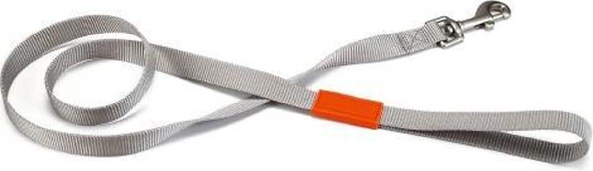BeezTees Beeztees nylon looplijn uni lichtgrijs 120x25