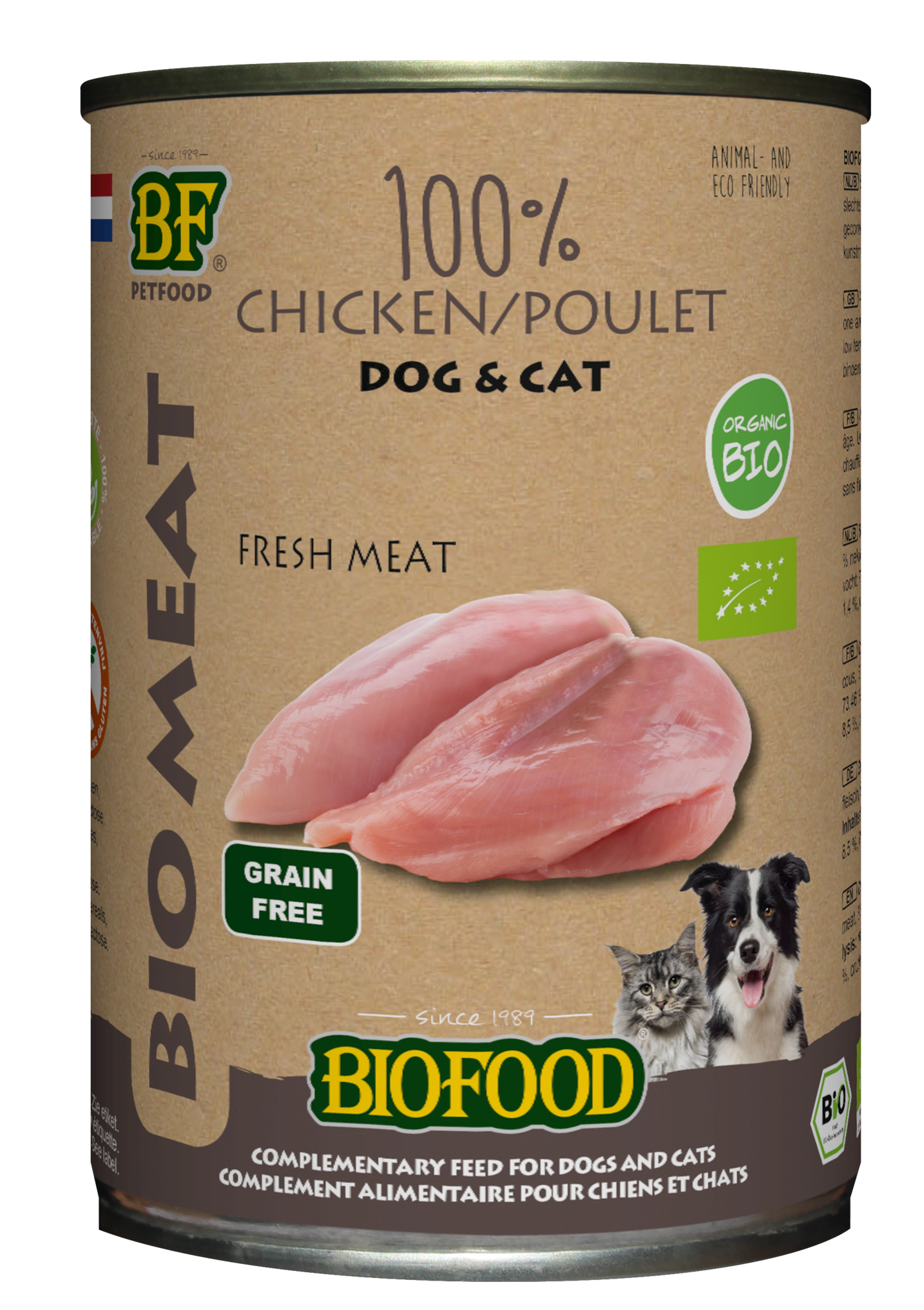 BioFood BIOFOOD - ORGANIC 100% KIPPENVLEES 400GR