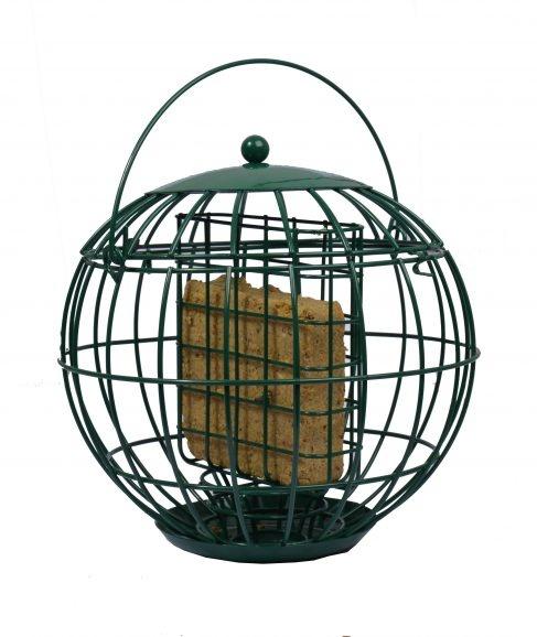 Birdcakehouder met beschermkap