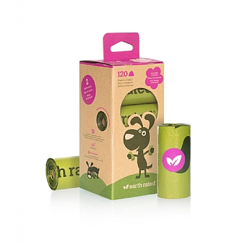 EARTH RATED EARTH RATED - POEPZAKJES ECO FRIENDLY UNSCENTED GROEN