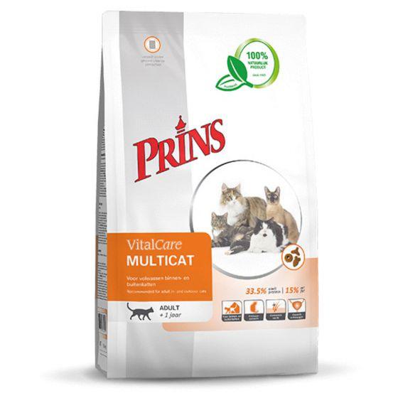 PRINS - VITALCARE MULTICAT 1,5 KG GEVOGELTE ADULT