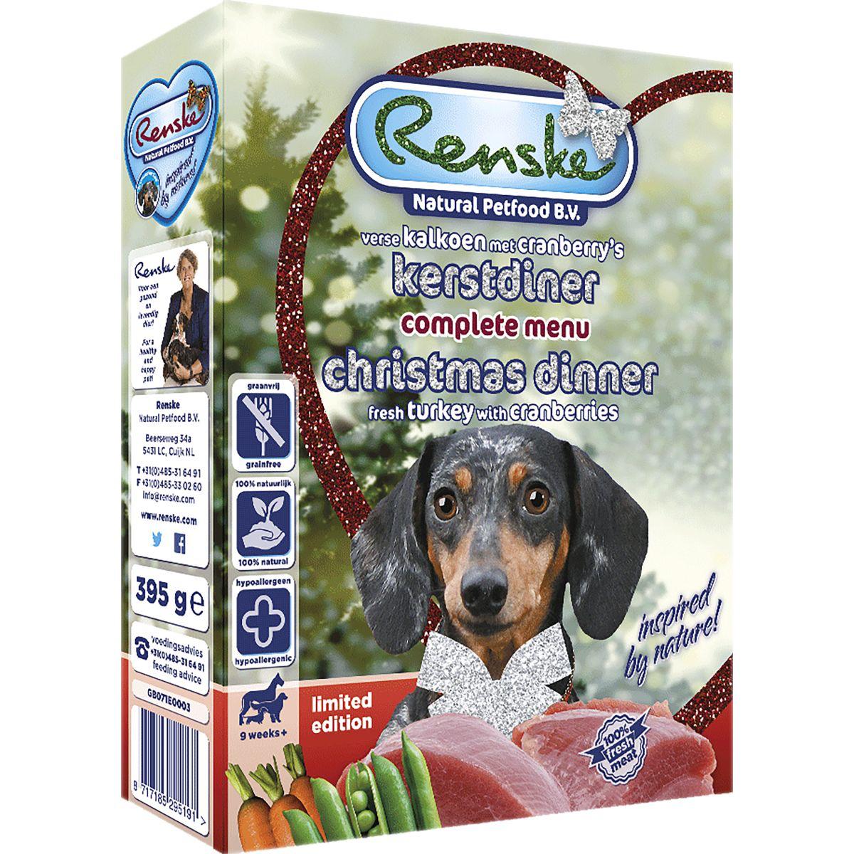 Renske RENSKE - KERSTDINER 395 GR KALKOEN ADULT