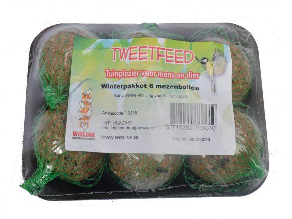 TWEETFEED Winterpakket 6 mezenbollen