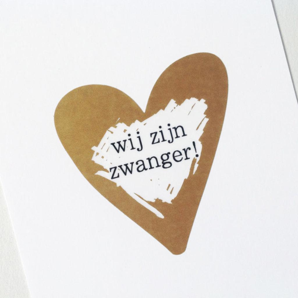 By Romi Kraskaart | Wij willen jullie graag iets leuks vertellen | Wij zijn zwanger