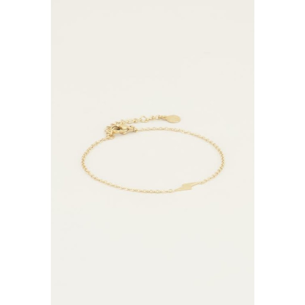 My Jewellery Armband bliksem Goud