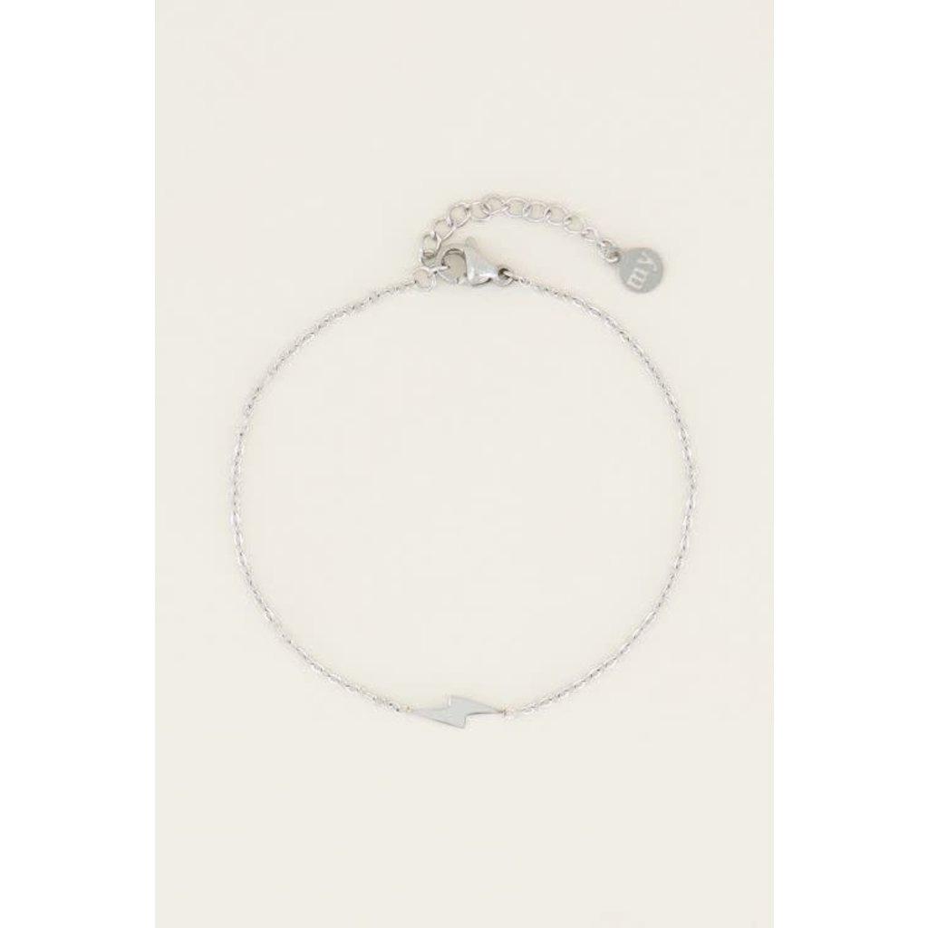 My Jewellery Armband bliksem zilver