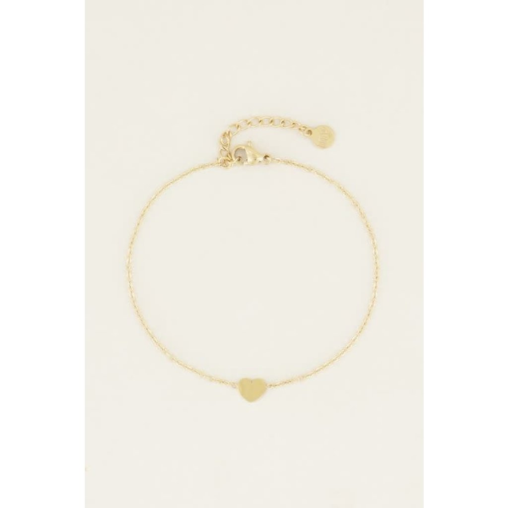 My Jewellery Armband klein hartje goud