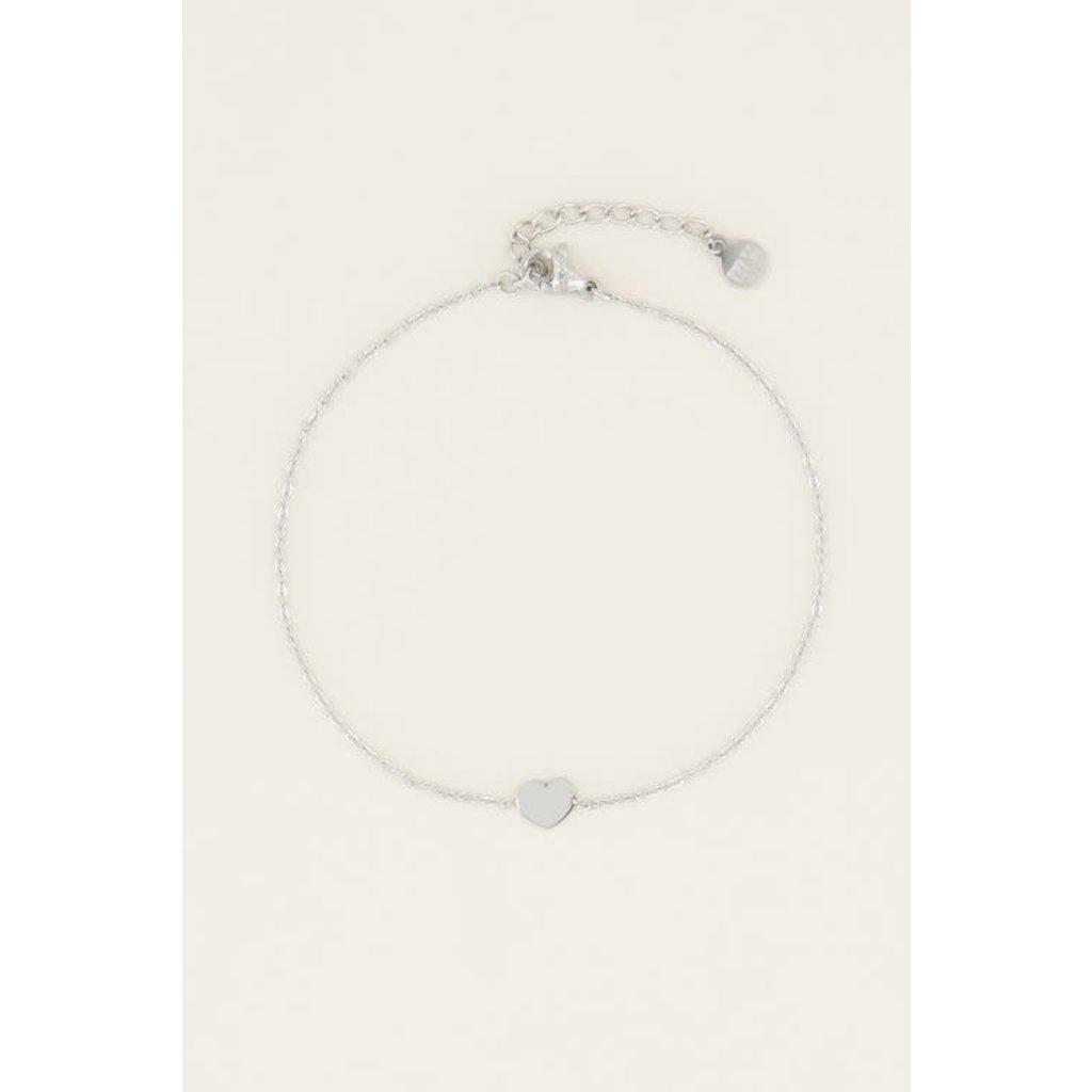 My Jewellery Armband klein hartje zilver