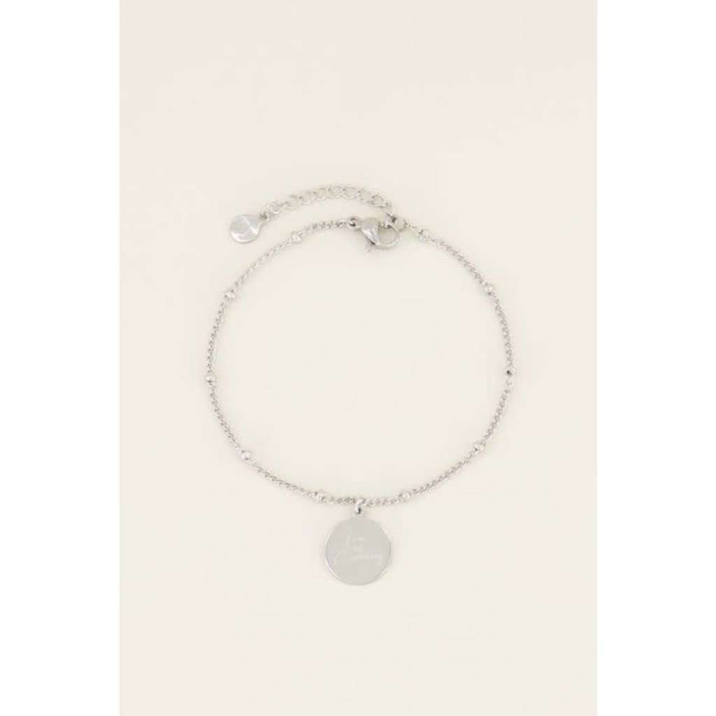 My Jewellery Armband love is coming zilver