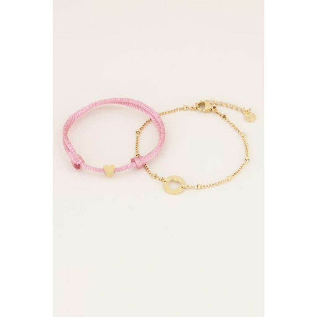 My Jewellery Moeder & dochter armband mini goud
