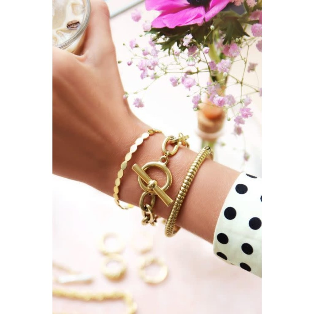 My Jewellery Schakelarmband kapittelslot goud