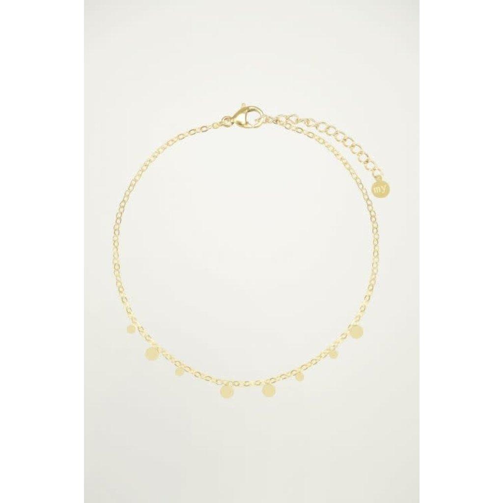 My Jewellery Armband Rondjes goud