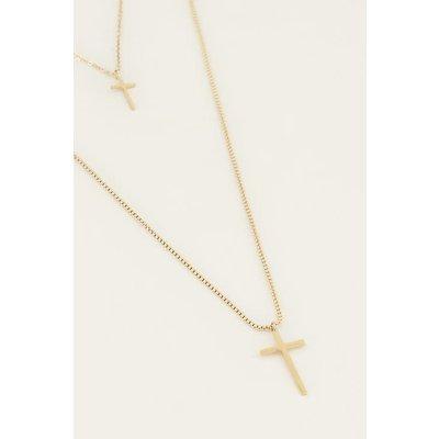 My Jewellery Dubble ketting kruisjes