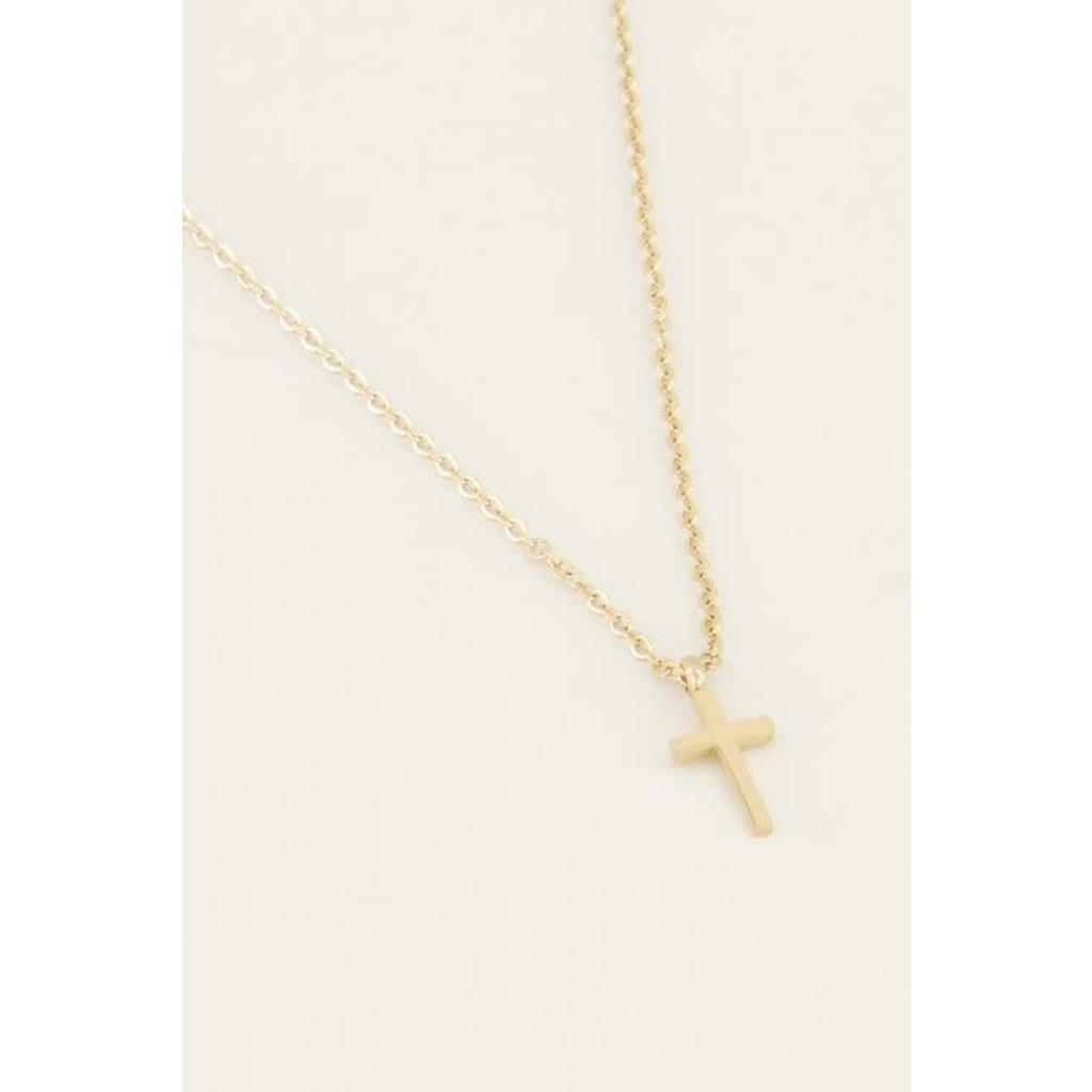 My Jewellery Ketting klein kruisje goud