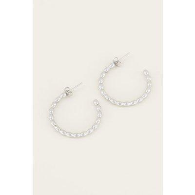 My Jewellery Grote oorbellen bolletjes zilver
