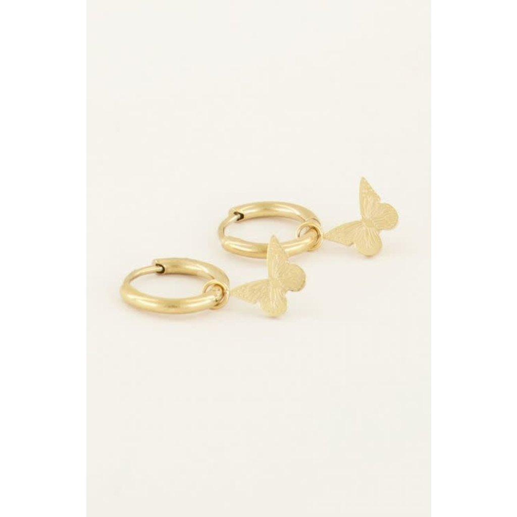 My Jewellery Oorbellen vlinder goud