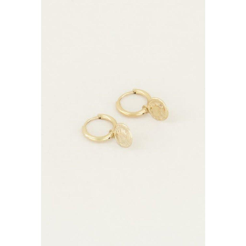 My Jewellery Oorringen met muntje goud