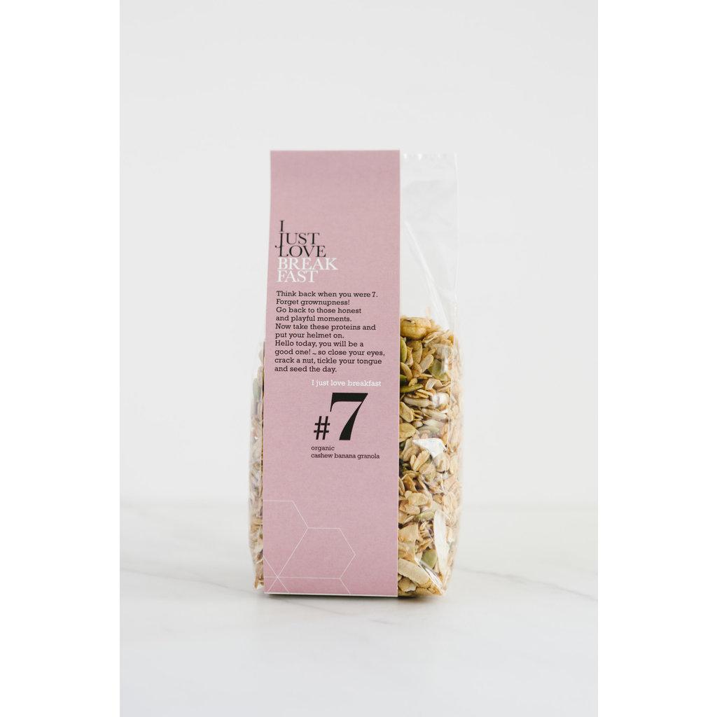 I just love breakfast #7 Cashew/Banaan granola 250gr