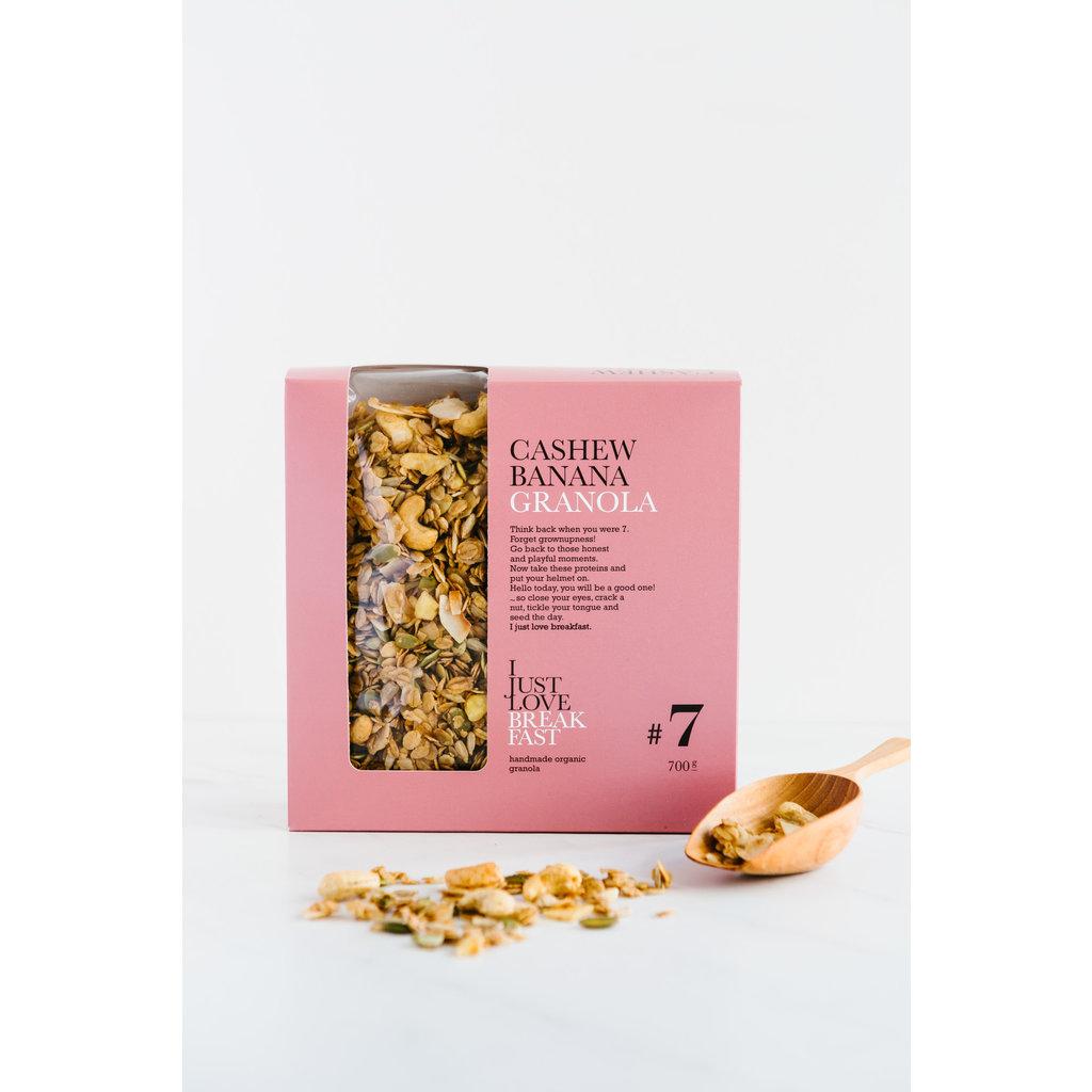 I just love breakfast #7 Cashew/Banaan granola fans 700gr