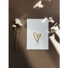 Petit Pourri Letterpress wenskaart Heart