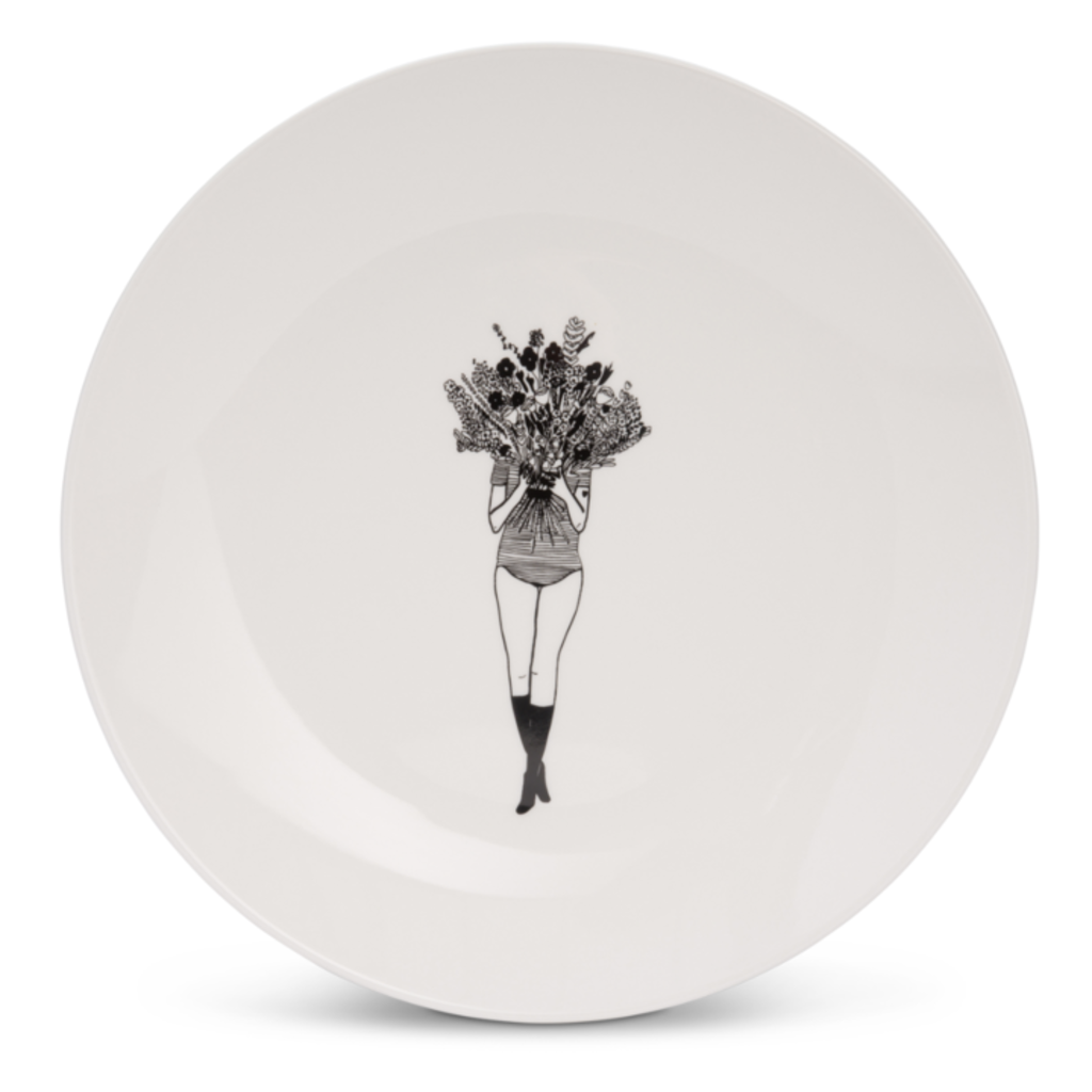 HelenB Copy of Ontbijtbord|breakfast plate naked couple back
