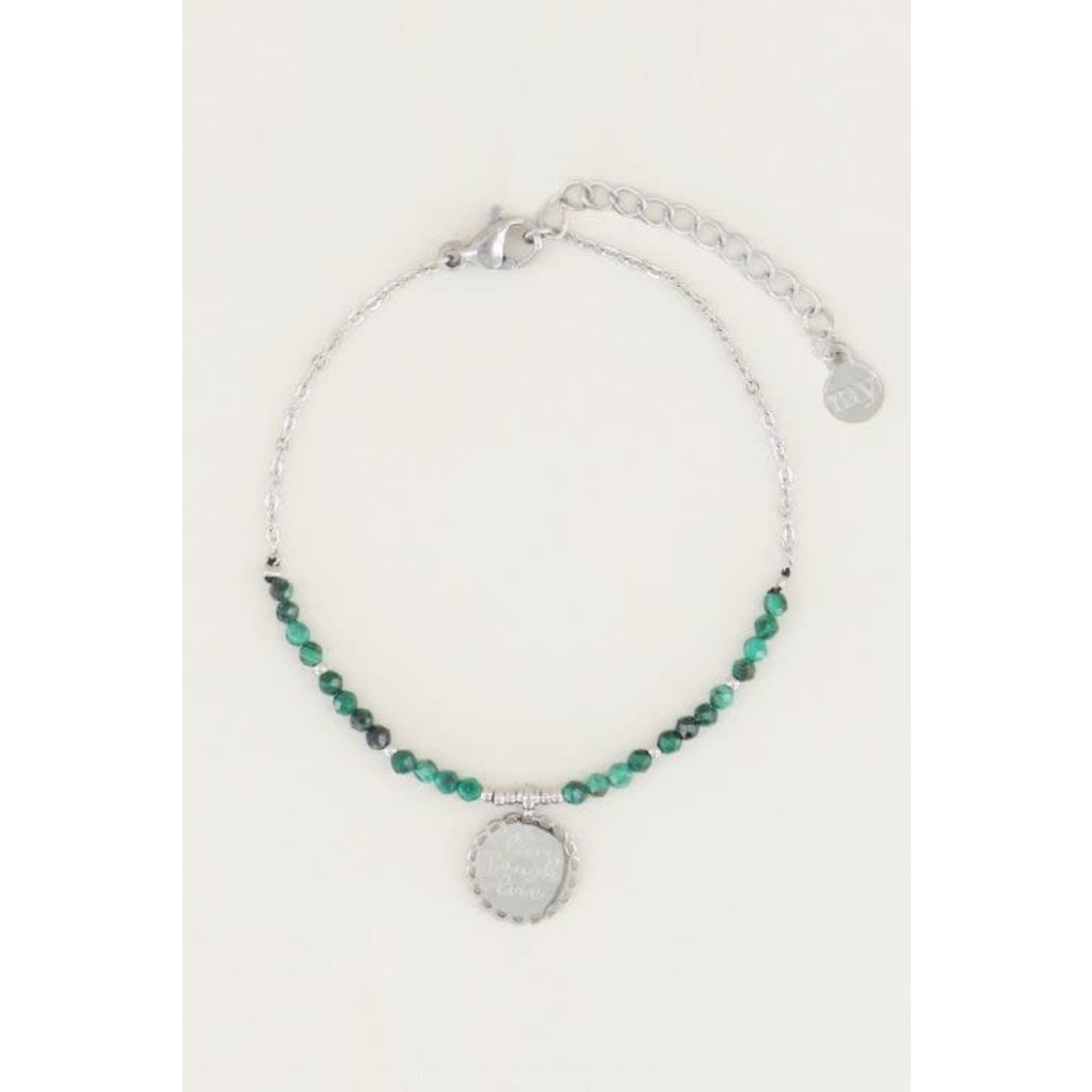 My Jewellery Armband bedel & malachite