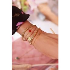 My Jewellery Armband bedel & red jade