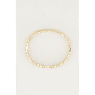 My Jewellery Bangle geribbeld breed goud