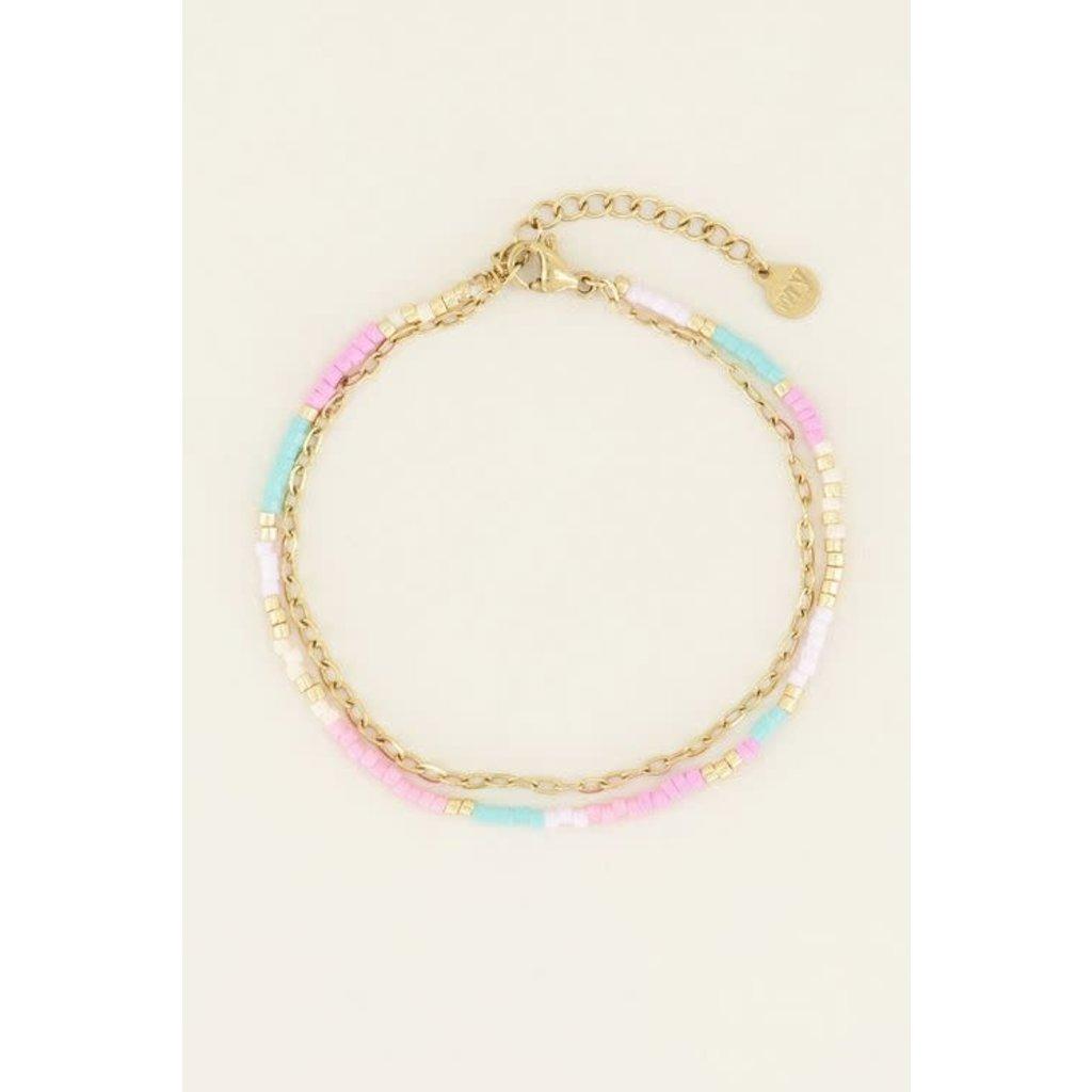 My Jewellery Dubbele armband kralen