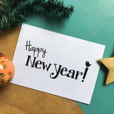 Bloeikaart: Happy New Year