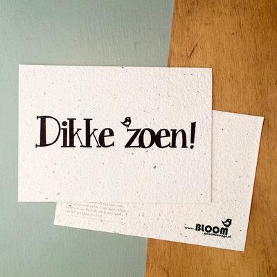 Bloom your message Bloeikaart: Dikke Zoen