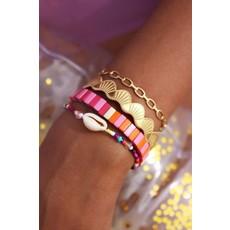 My Jewellery Armbandje met kraaltjes schelp goud