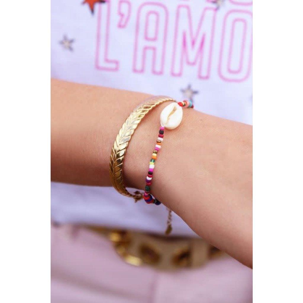 My Jewellery Armbandje met kraaltjes schelpArmbandje met kraaltjes schelp zilver