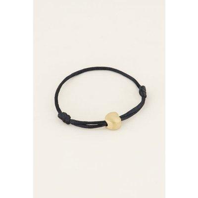 My Jewellery Zwart vader armbandje goud