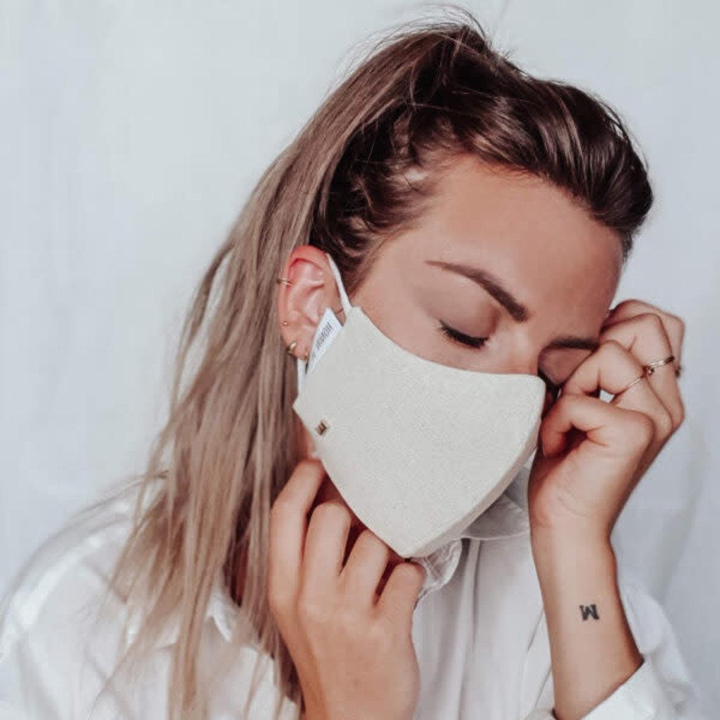Mondmasker linnen ecru