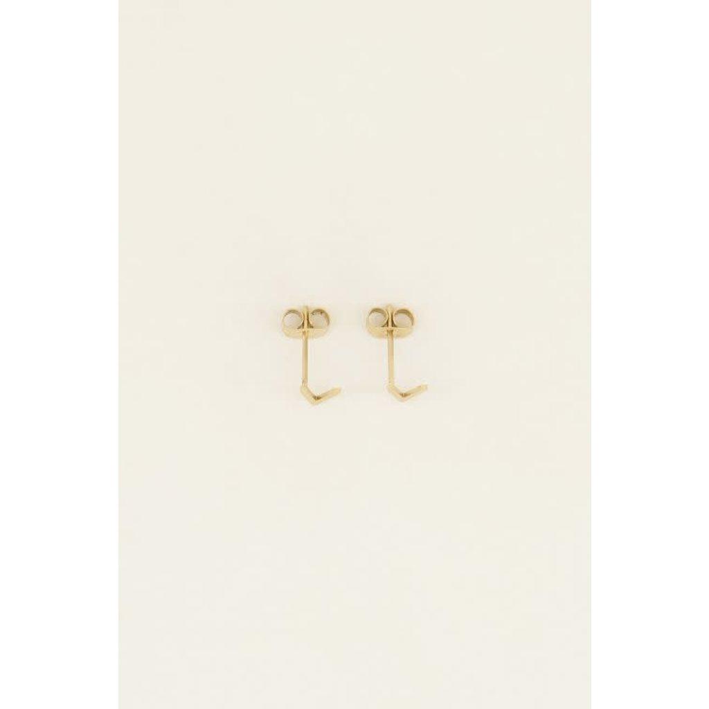 My Jewellery Studs met V-vorm goud