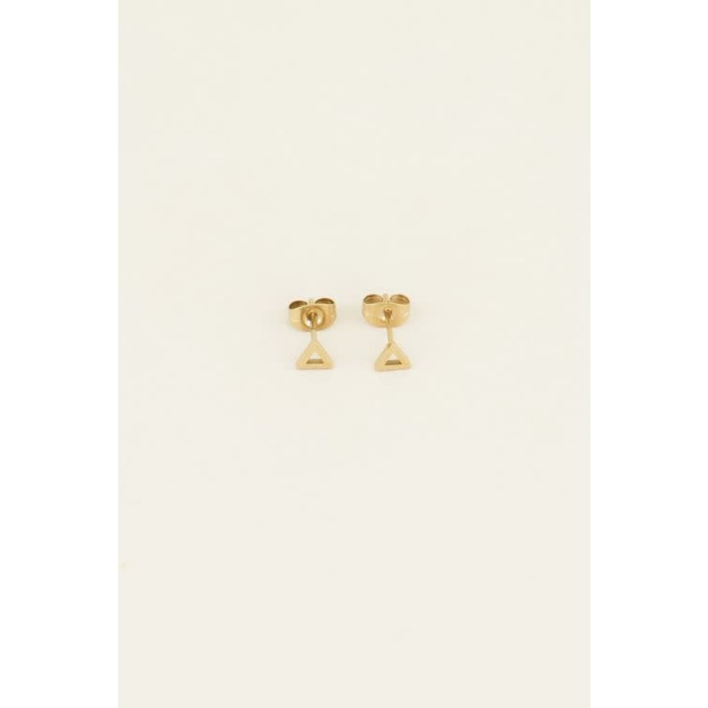 My Jewellery Studs open driehoek goud