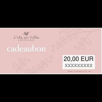 Cadeaubon online 20