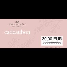 Cadeaubon online 30