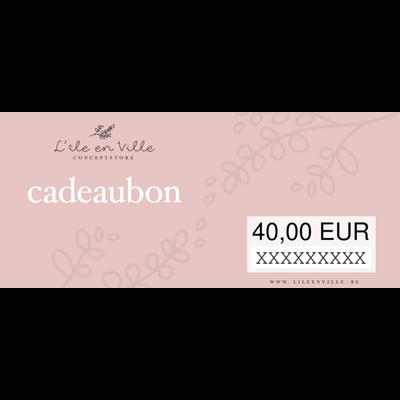 Cadeaubon online 40