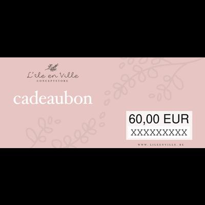 Cadeaubon online 60