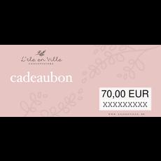 Cadeaubon online 70