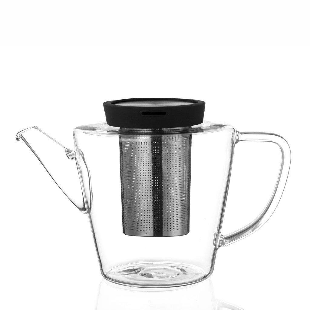Viva Infusion™ Glass teapot. zwart
