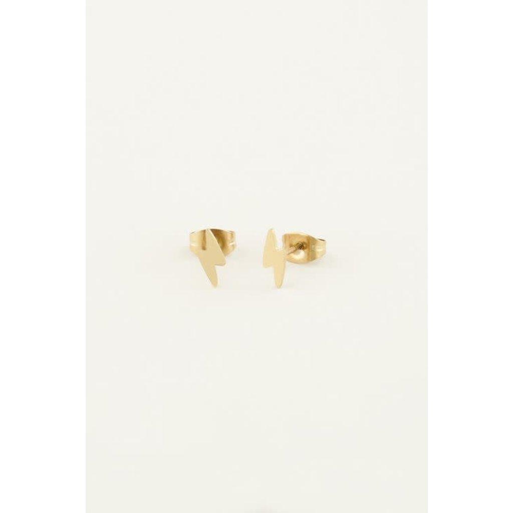 My Jewellery Studs bliksem goud